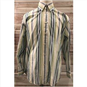Tommy Hilfiger Shirt Striped Long Sleeve 80s 2 Ply